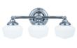 The new-for-2013 Academy Collection three-light bath by Sea Gull Lighting