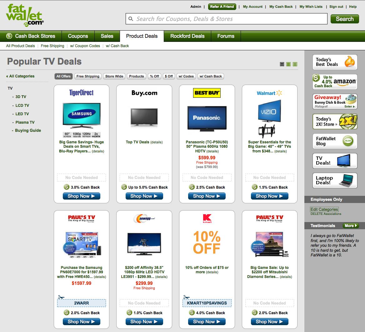 Fatwallet paul's tv coupon codes