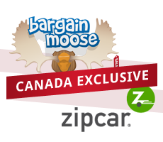 Exclusive Coupon Code Tracker for ZipCar.com now on BargainMoose.ca