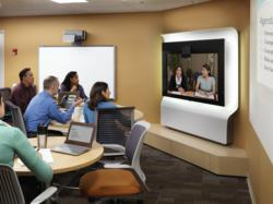 TelePresence Students at Round Tables