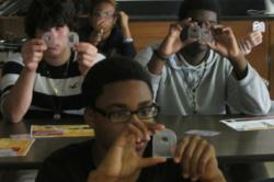 Wekiva High School students participate in an SPIE-sponsored optics and photonics workshop.