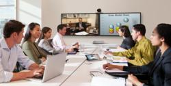 TelePresence Students at Conference Table