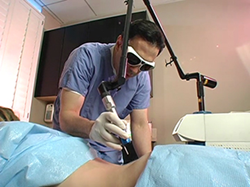 Dr. Simon Ourian Performs Laser Tattoo Removal