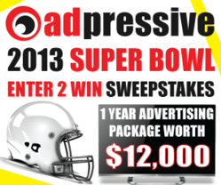 2013 Adpressive.com Enter To Win Super Bowl Sweepstakes