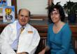 Dr. Henry J. Heimlich and Michelle Mellea, Ph.D., who created the Heimlich Heroes curriculum.