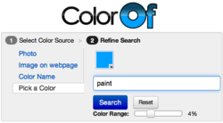 ColorOf.com the shop by color website, launches new user interface.