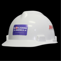 Realigning America Sticker on Hardhat