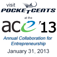 PocketCents Local Online Advertising services showcased at ACE'13.