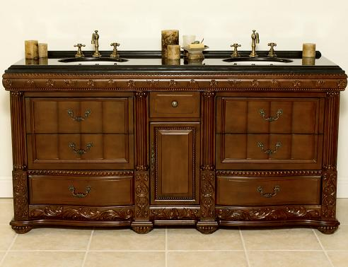 Bathroom Vanities and French Country Bathroom Vanity under 60 Double