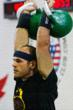 WKC Rank 1 Lifter, Jorge Gonzales, wearing KettleGuards at the 2012 World Kettlebell Lifting Championships in Chicago, IL