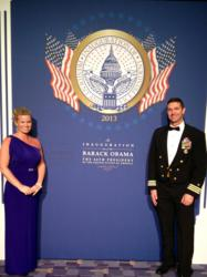 Jennifer Pilcher military spouse of CDR Eddie Pilcher attends the 2013 Commander in Chief Ball 2013 in Washington DC