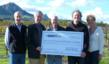 The Garagiste Team presents a donation from the 2012 Garagiste Festival to the Cal Poly Wine and Viticulture program.