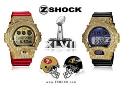 ZShock Diamond G-Shock Watches Commemorating Super Bowl 47