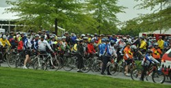 Riders at the 2012 Face of America ride.