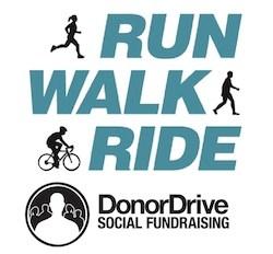 DonorDrive Run Walk Ride Logos