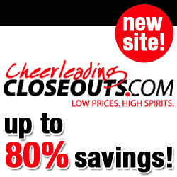 Campus Teamwear announces the launch of their new outlet website, CheerleadingCloseouts.com, that will feature deals on new, high-quality cheerleading apparel and gear.