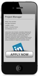 Mobile Recruitment Website with Apply by LinkedIn