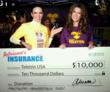 "Adriana Gallardo donated $10.000 to ""Teleton USA"" in December 2012."
