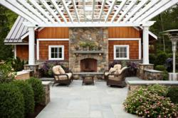 'Ultimate Man Cave' featuring INTEX Millwork Solutions Pergola, by TR Building & Remodeling, Inc.