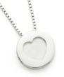 Love Heart Sterling Silver  Pendant by  Posse & Rake