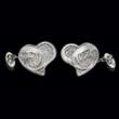 Portuguese filigree in white gold, by London designer Exceptio Cufflinks