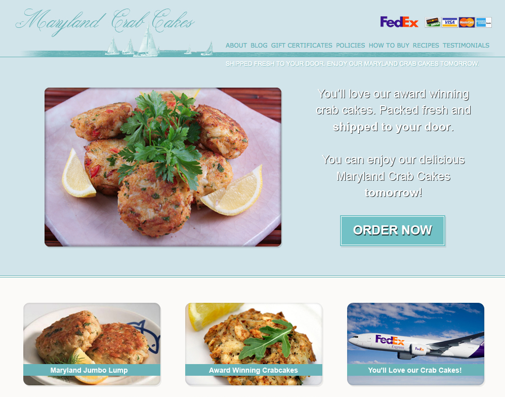 Crab Cake Recipe Low Calorie: Maryland Crab Cakes Online Provides Healthy Options For