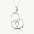 Valentines day jewerly, Love heart pendant, Irish heart pendant, celtic heart pendant, Celtic Promise