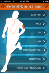 Screenshot from Personal Running Trainer 2.0