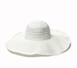 White Ribbon/Straw Sun Hat