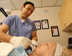 Dr. Simon Ourian Performs Dermal Filler Injection