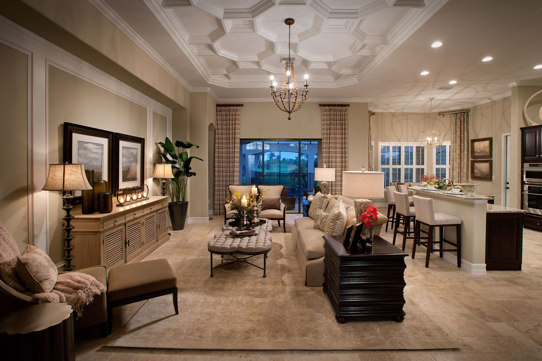 Bougainvillea luxury model home completed at runaway bay for Model home living room