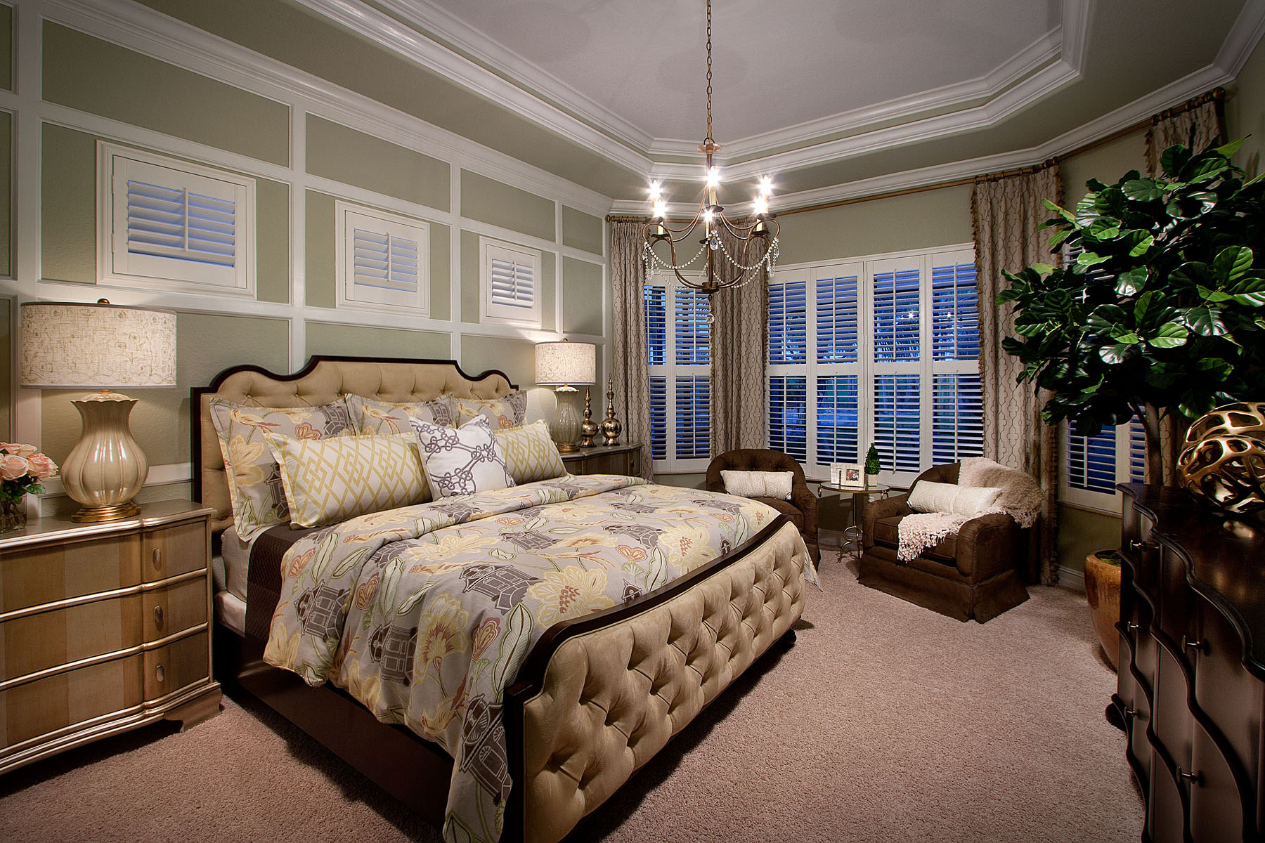 interesting master bedroom suite | Bougainvillea Luxury Model Home Completed at Runaway Bay ...