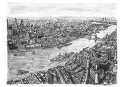 The View from the Shard by Stephen Wiltshire