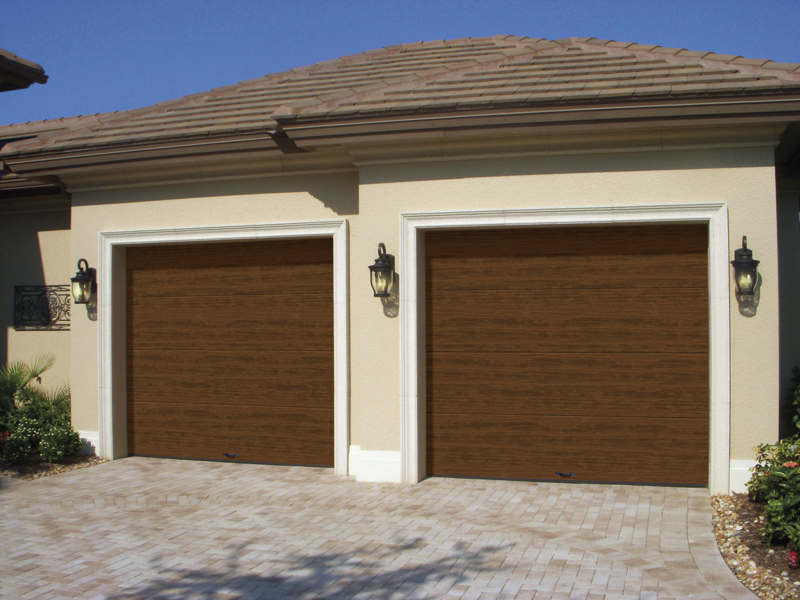 Clopay introduces cypress collection insulated flush for Clopay steel garage doors
