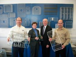 U.S. Rep. Joe Courtney tours wire grid manufacturing facility in Mystic, CT.