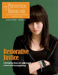Restorative Justice Issue of The Prevention Researcher