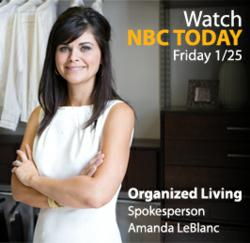 Organized Living and Amanda LeBlanc on NBC Today