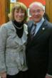 Covenant House Executive Director, Bruce Rivers and Ontario Children and Youth Services Minister, Laurel Broten.