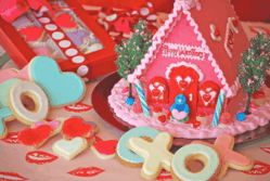 Valentines Gingerbread House Love Shack from The Solvang Bakery