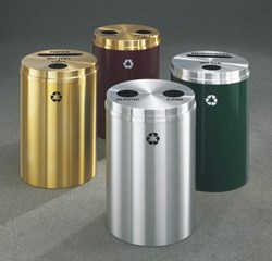 Glaro Metal Recycling Receptacles and Recycling Containers