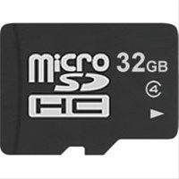 32 GB micro SD flash memory