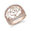 Sylvie Collections 18 karat rose gold and diamond fashion ring makes the perfect love-gift for Valentines Day.