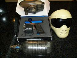 paintball gun packages, used paintball gun packages,dangerous power e1 paintball gun package
