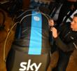 Retül master fitter Todd Carver works with Team Sky in Spain.