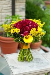 Michael Gaffney's hand-tied bouquet