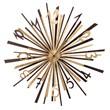 The Luxury Arti & Mestieri Exploit Clock with Genuine Gold Leaf