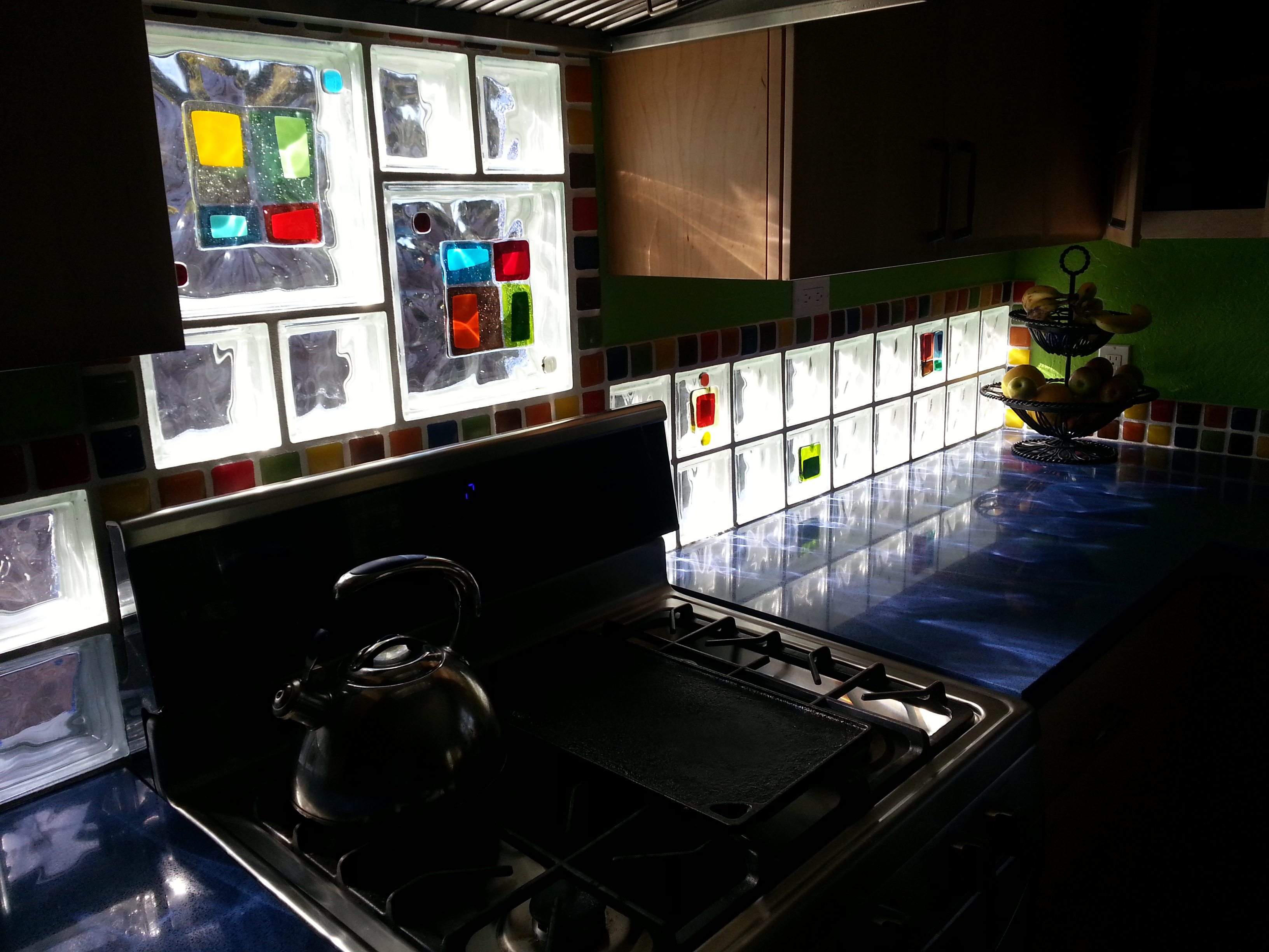 - Introducing Colorful Glass Tile Blocks For Window, Shower & Wall