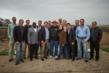 The Colony City Council with TopGolf's business development leaders at the TopGolf construction site. Photo by Jeremy Brown.