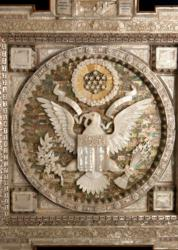 Great Seal of the United States in mother of pearl