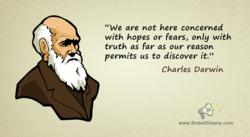 Charles Darwin quote with illustration
